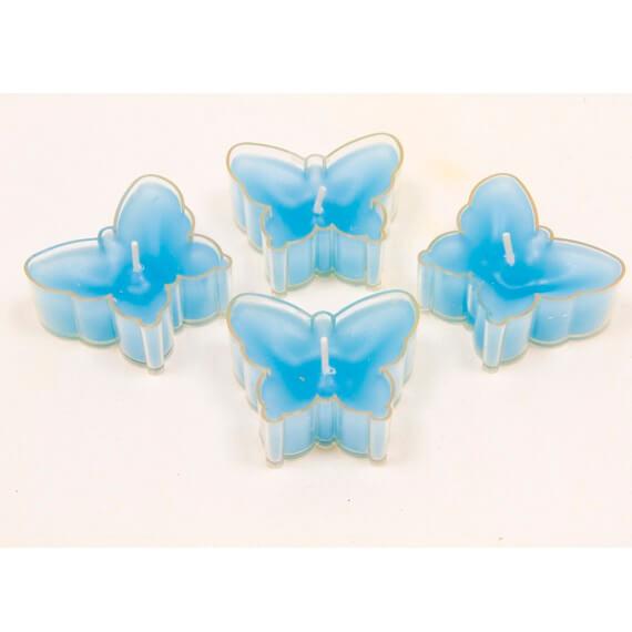 Bougie chauffe plat papillon bleu turquoise