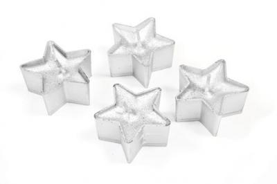 Bougie étoile blanche (x4) REF/BG008