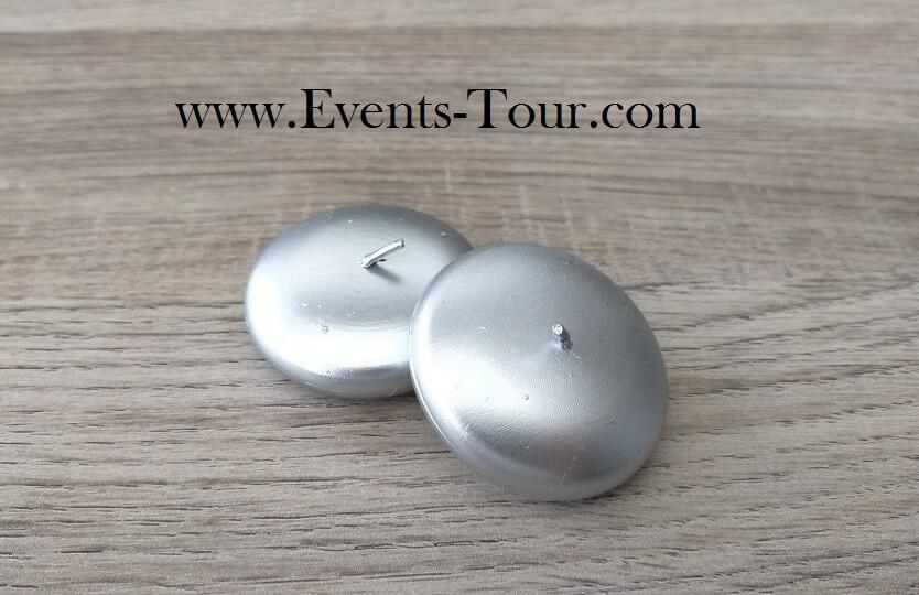 Bougie flottante metallique argentee pour vase