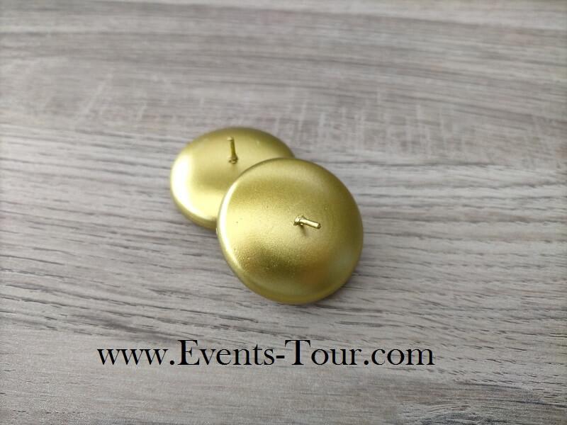 Bougie flottante metallique doree pour vase