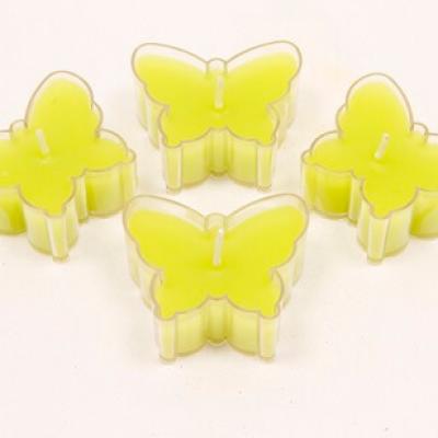 Bougie vert menthe papillon (x4) REF/BG006