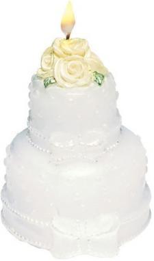 Bougie gâteau des mariés (x1) REF/719095