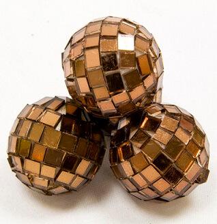 Boule a facettes disco marron