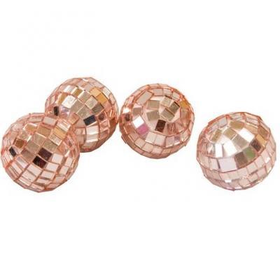 Boule à facettes Disco rose gold de 3.5cm (x4) REF/DEC366