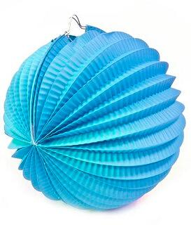 Boule bleu turquoise, 20cm (x1) REF/GUI058