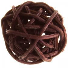 Boule de rotin chocolat, 3cm (x12) REF/3012