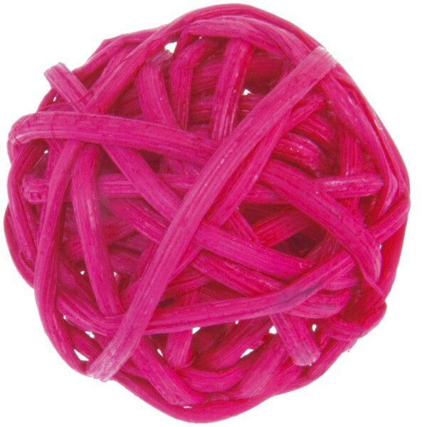 Boule de rotin fuchsia decorative
