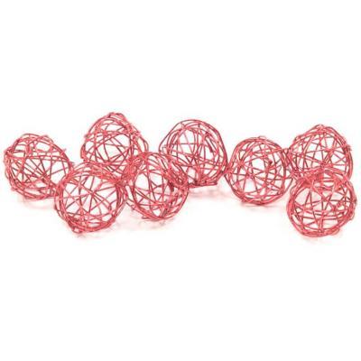 Décoration boule de rotin métallique rose gold de 2cm (x12) REF/DEC476