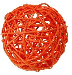 Boule de rotin orange