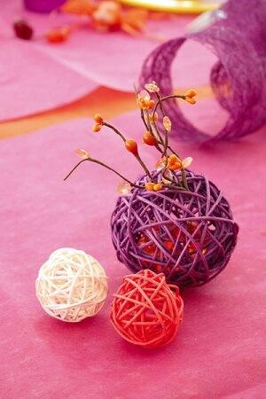 Boule de rotin prune 2