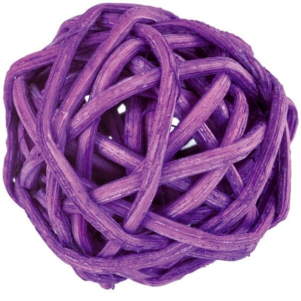 Boule de rotin prune decorative
