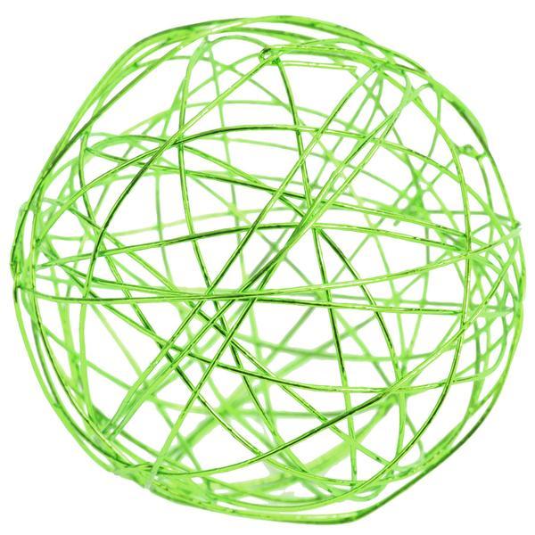 Boule de rotin vert metallique