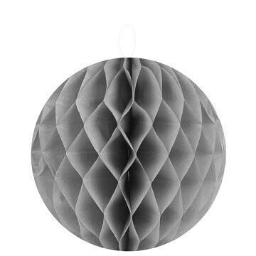 Boule décorative grise, 20cm (x2) REF/4365