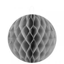 Boule décorative grise, 30cm (x2) REF/4366