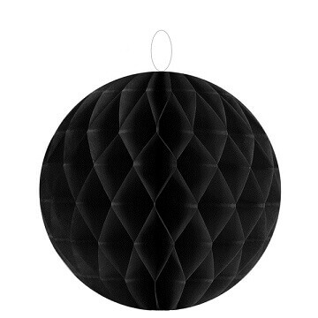 Boule decorative noire 10cm