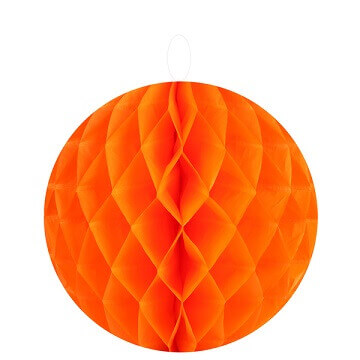 Boule decorative orange 20cm