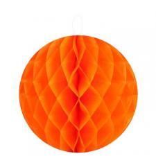 Boule décorative orange, 20cm (x2) REF/4365