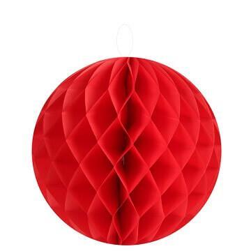 Boule décorative rouge, 20cm (x2) REF/4365