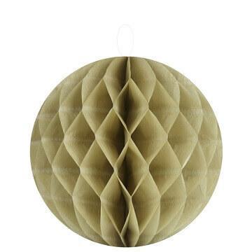 Boule décorative taupe, 20cm (x2) REF/4365