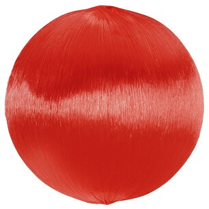 Boule fil scintillant rouge
