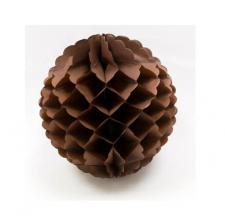 Boule marron à suspendre, 25cm (x1) REF/GUI055