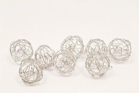 Boule metallique argent 1