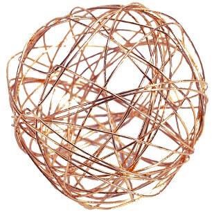 Boule metallique cuivre