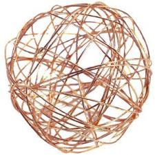 Boule métallique cuivre (x7) REF/5328