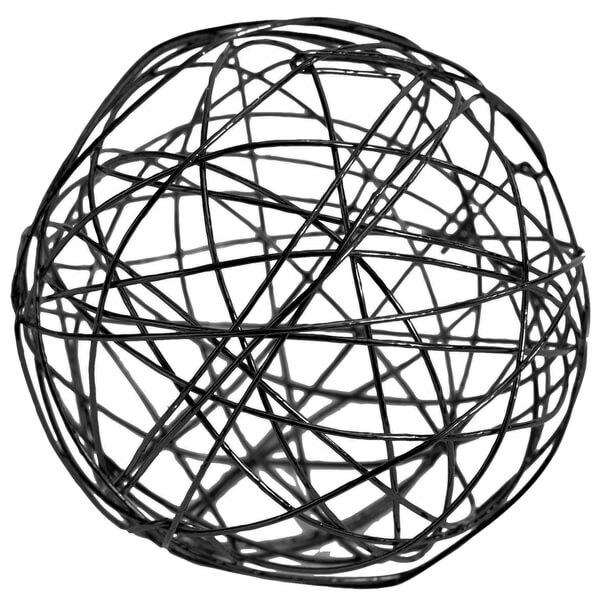 Boule metallique noire 2