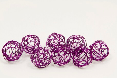 Boule metallique prune