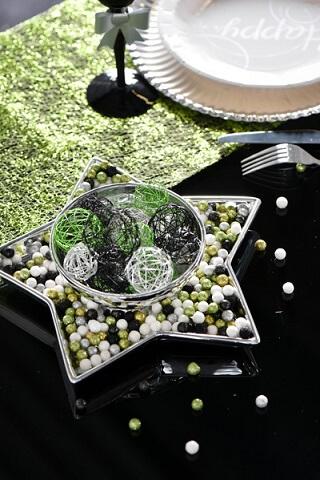 Boule metallique verte