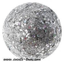 Boule pailletée argent (x12) REF/3937