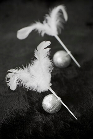 Boule pailletee argent 5cm 1