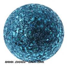 Boule pailletée bleu turquoise (x12) REF/3937