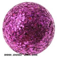 Boule pailletée fuchsia (x12) REF/3937