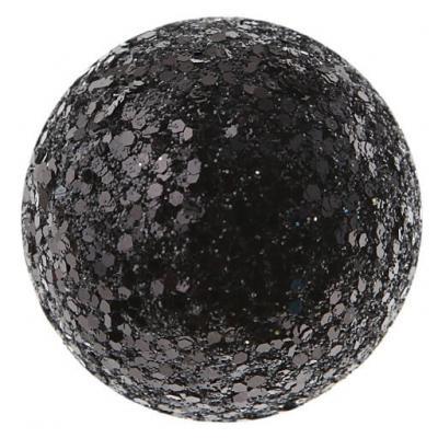 Boule pailletée noire (x12) REF/3937