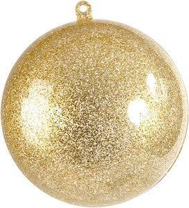 Boule pailletée or 8cm (x1) REF/3628