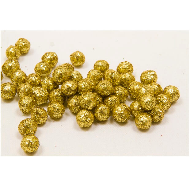 Boule pailletee or 8mm