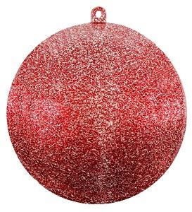 Boule pailletee rouge 8cm