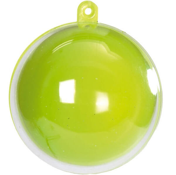 Boule verte et transparente pour dragee