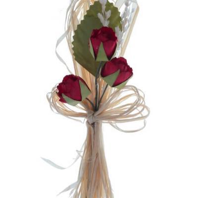 Bouquet de 3 roses rouges (x2) REF/5677