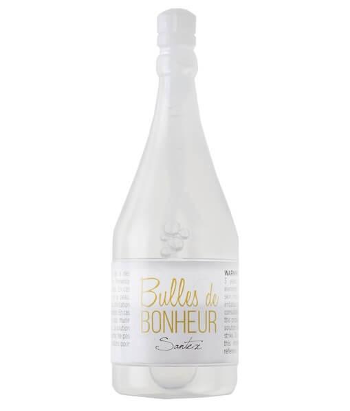 Bouteille de champagne bulle de savon