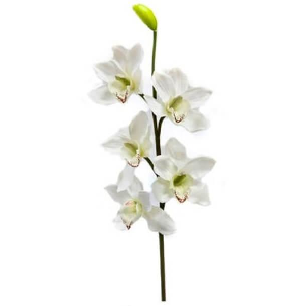 Branche d orchidee blanche 80cm 1