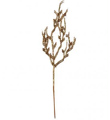 Branche pailletée or, 35cm (x1) REF/5452