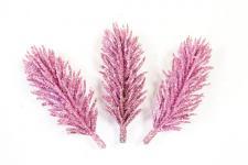 Branche sapin pailletée rose (x3) REF/DEC792