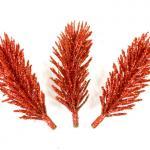 Branche sapin pailletée rouge (x3) REF/DEC792