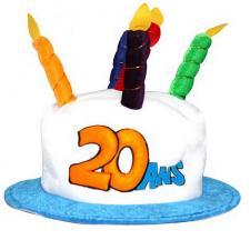 Chapeau anniversaire: 20ans (x1) REF/CHA02