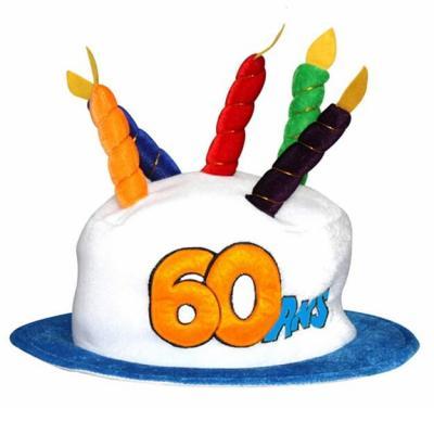 Chapeau anniversaire: 60ans (x1) REF/CHA06