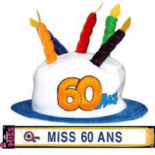 Cadeau femme 1 écharpe et 1 chapeau anniversaire 60ans REF/CHA06-ECHB06