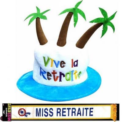 Cadeau femme 1 écharpe et 1 chapeau retraite REF/CHA07-ECHB07